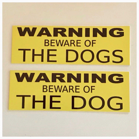 Dog or Dogs Warning Beware of The Sign Wall Plaque or Hanging - The Renmy Store