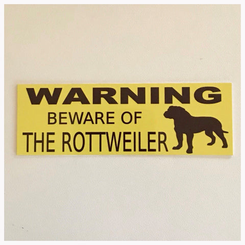 Rottweiler Dog Warning Beware Of The Sign Hanging or Plaque Pet - The Renmy Store