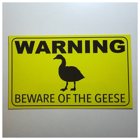 Warning Beware Of The Geese Goose Sign Wall Plaque or Hanging - The Renmy Store