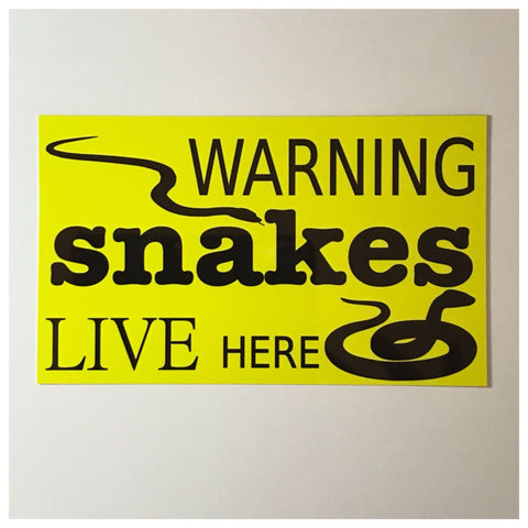 Warning Snakes Reptiles Live Here Sign Wall Plaque or Hanging - The Renmy Store