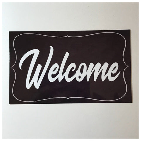 Welcome Sign Wall Plaque or Hanging - The Renmy Store