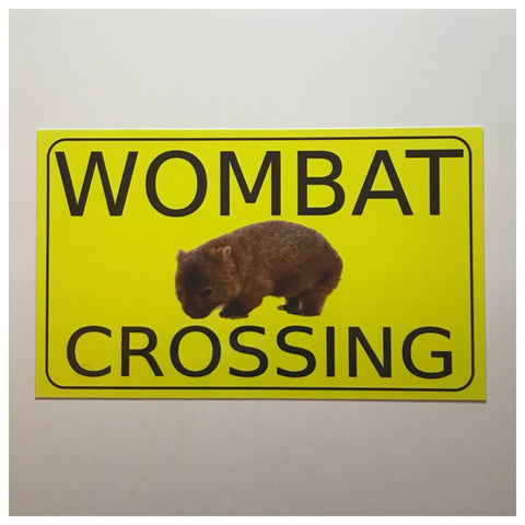Wombat Crossing Sign Wall Plaque or Hanging - The Renmy Store