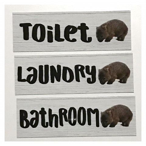 Wombat Door Room Sign Toilet Laundry Bathroom - The Renmy Store
