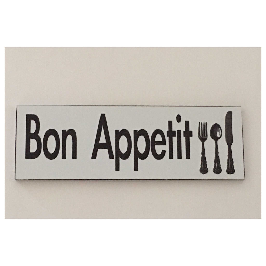 Bon Appetit Sign With Cutlery Wall Plaque or Hanging - The Renmy Store
