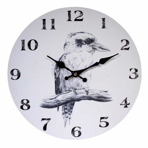 Clock Wall Birds Bird Kookaburra - The Renmy Store