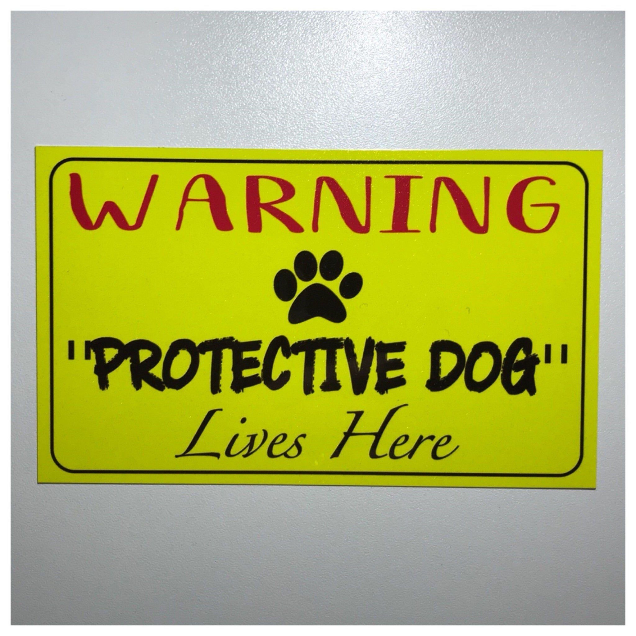 Warning Protective Dogs or Dog Live Here Sign - The Renmy Store