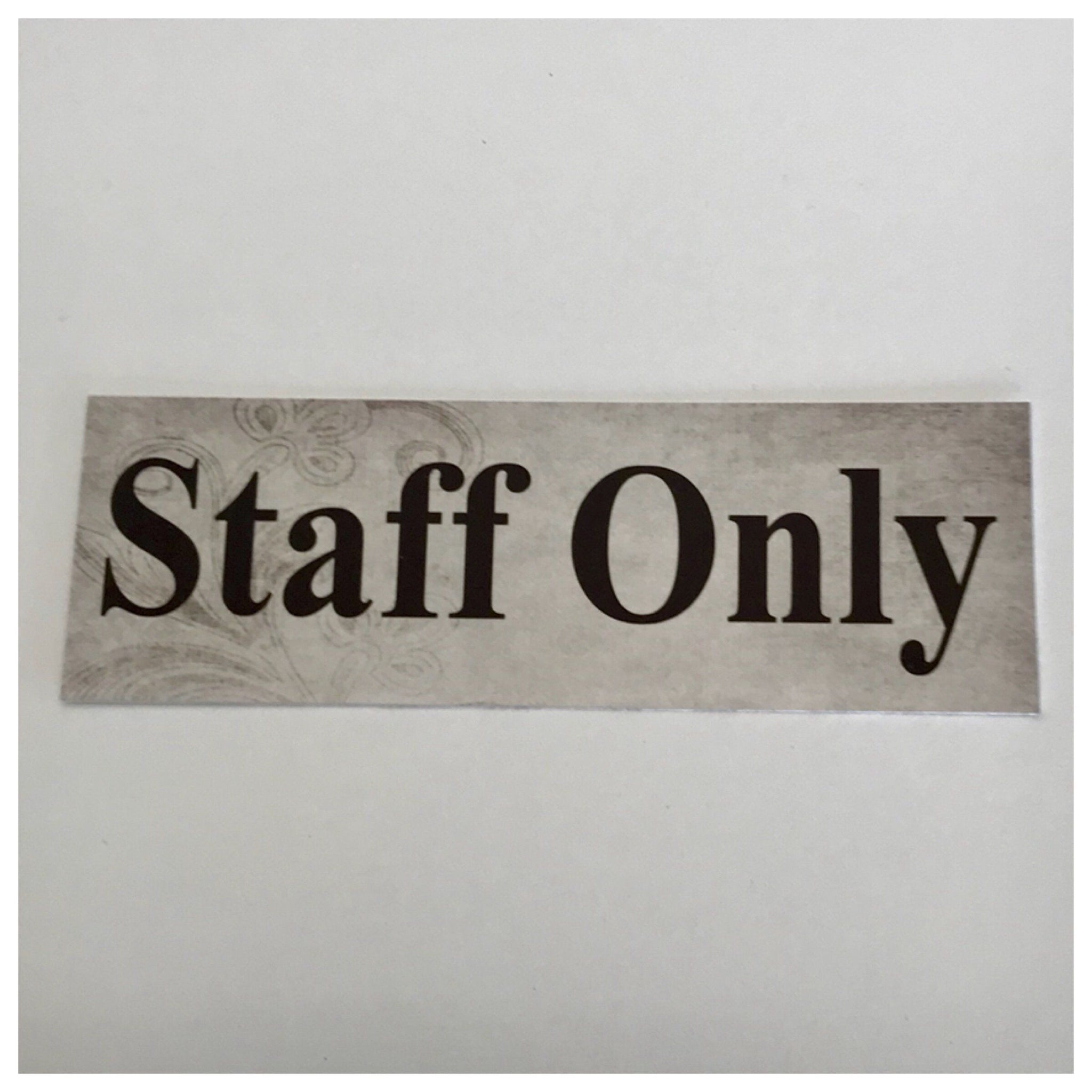 Staff Only Vintage Shabby Chic Sign Wall Plaque or Hanging - The Renmy Store