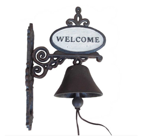Door Bell Antique Welcome Rustic