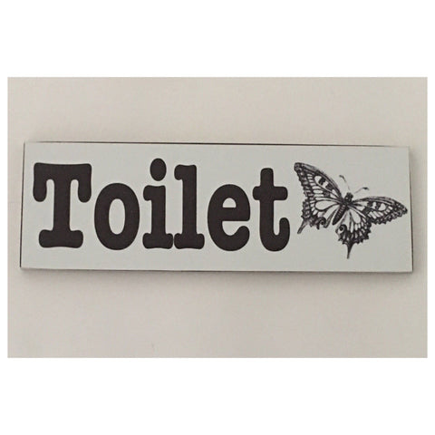 Toilet Vintage with Butterfly Sign Hanging Room Bathroom - The Renmy Store