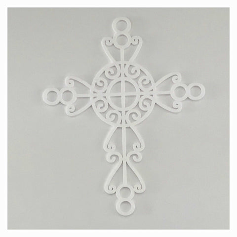 Cross Boho White Decorative Plastic Acrylic Religious Decor Other Home Décor The Renmy Store