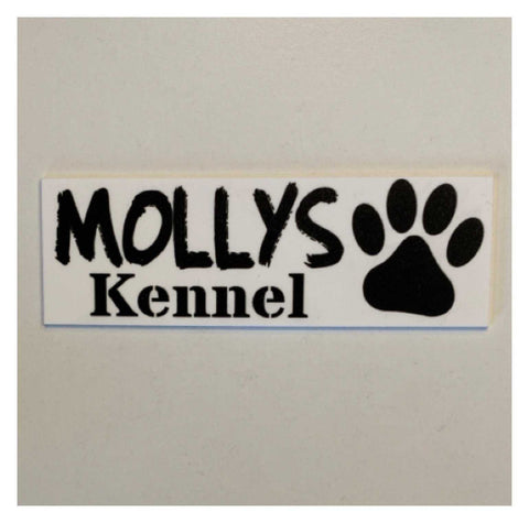 Dog Kennel Personalised Your Dogs Name White Sign