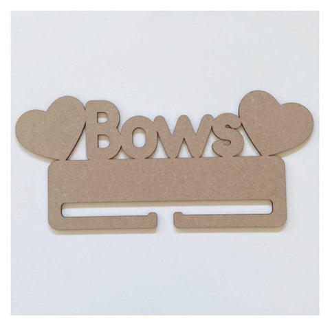 Bows Girls Bow Holder Organiser Hearts MDF Wooden DIY Craft | The Renmy Store