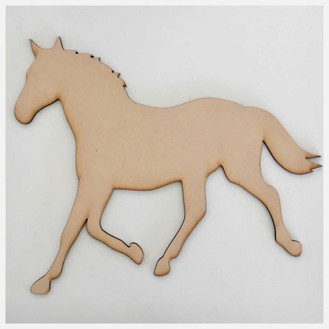 Horse Raw MDF Timber DIY Craft - The Renmy Store