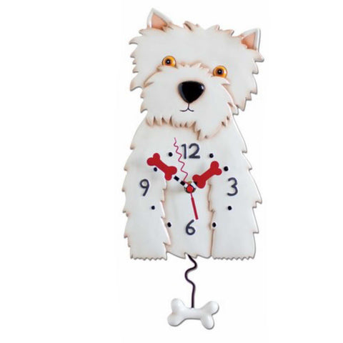 Clock Wall Dog Weston Funky Retro | The Renmy Store