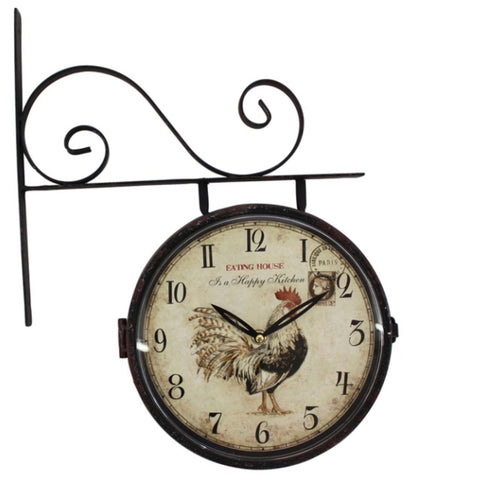 Clock Wall Antique Rooster