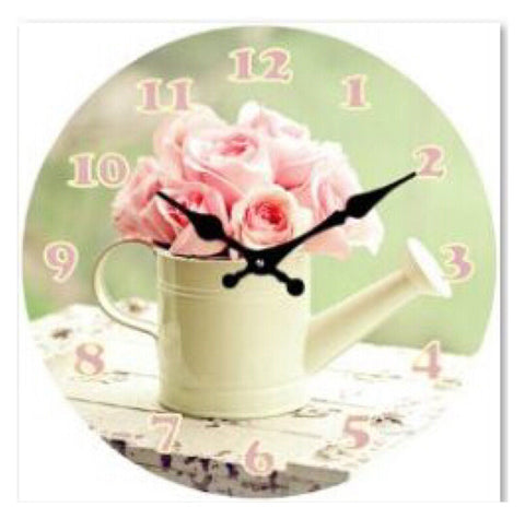 Clock Shabby Chic Rose
