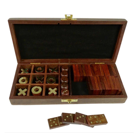 Game Carlo Box in Indian Rosewood Wooden Box