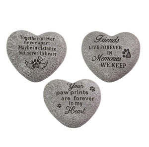 Memorial Stone Heart Dog - The Renmy Store