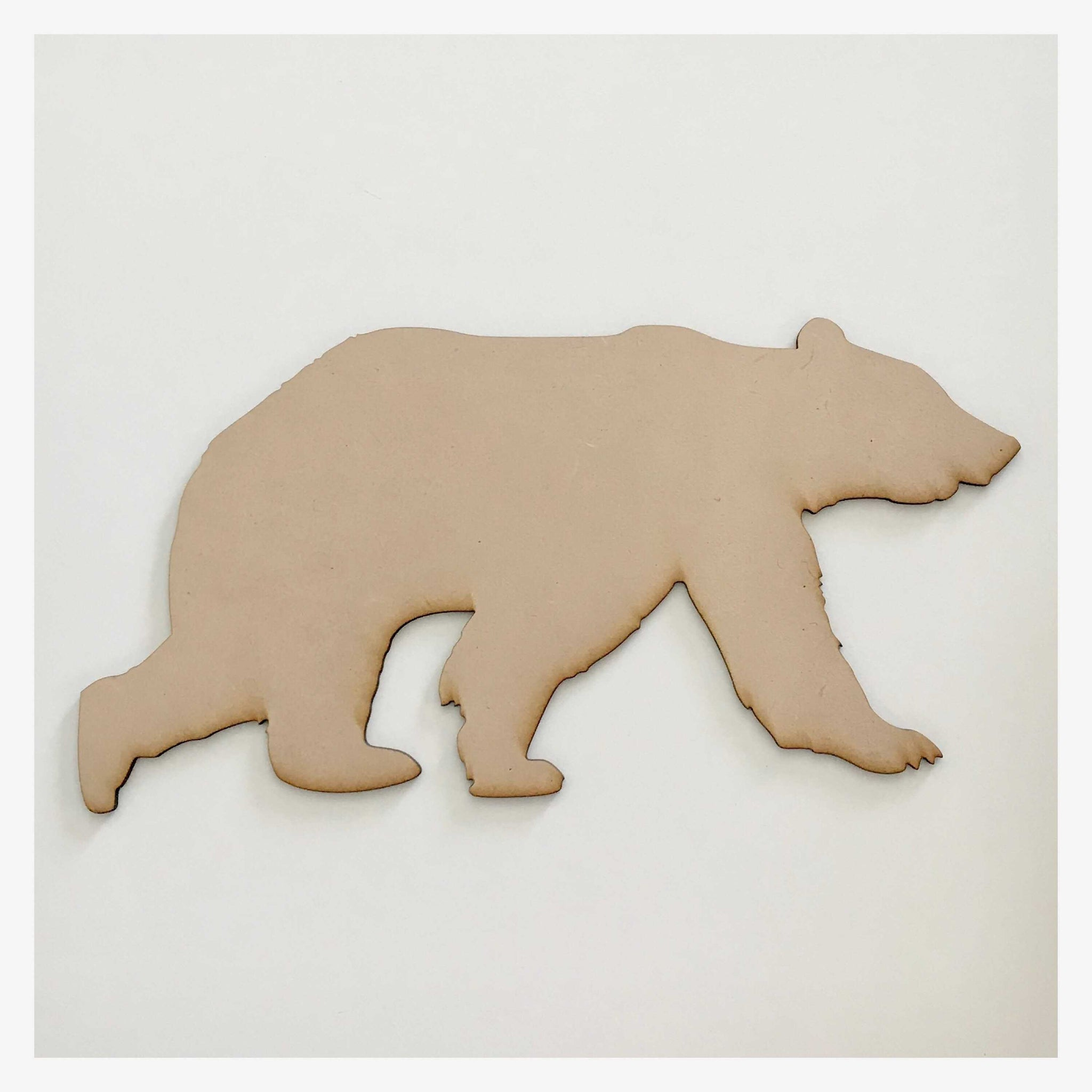 Bear Wild Animal Raw MDF Timber DIY Craft - The Renmy Store