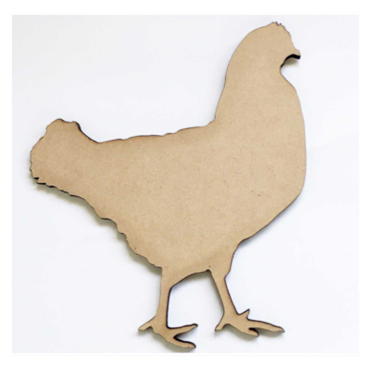 Chicken Hen Timber MDF Raw DIY | The Renmy Store