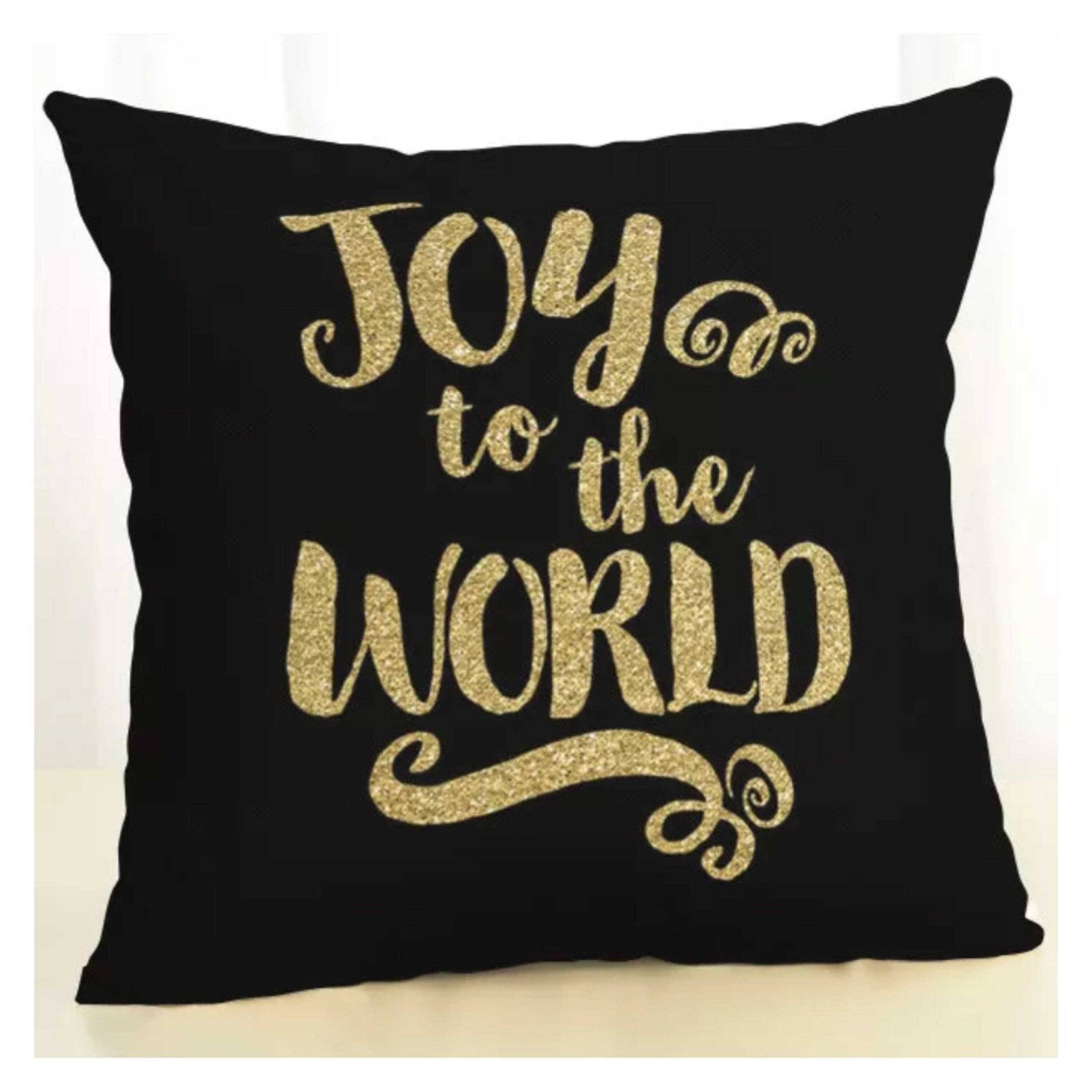Cushion Pillow Joy To The World Christmas - The Renmy Store