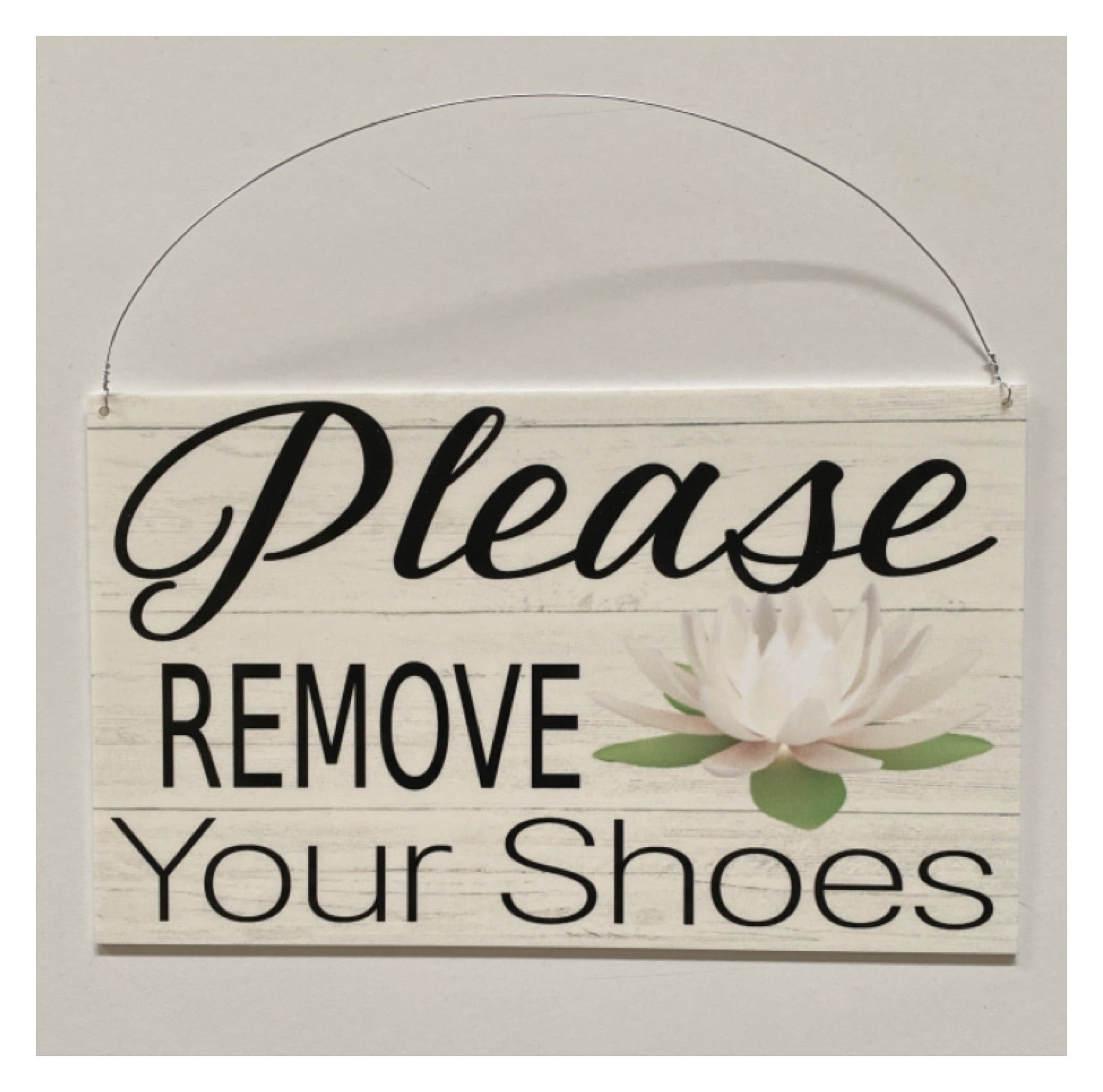 Please Remove Your Shoes with Lotus Flower Sign | The Renmy Store