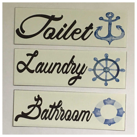 Nautical Boat Door Room Sign Toilet Laundry Bathroom - The Renmy Store