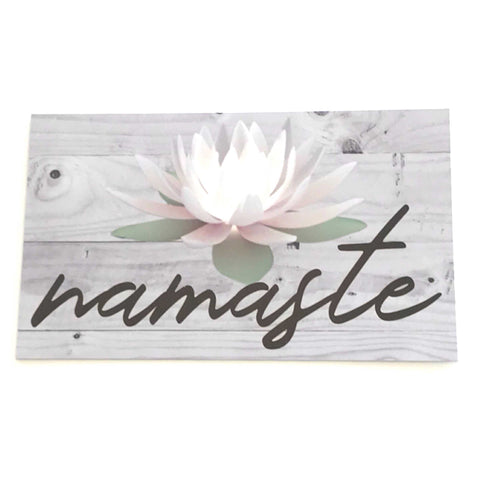 Namaste with Lotus Flower Sign