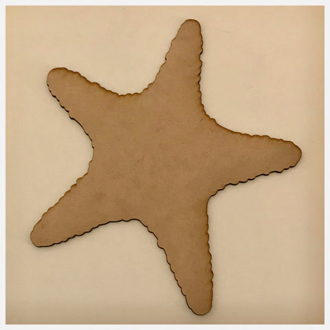 Starfish Fish Beach House Wooden Raw MDF DIY Craft