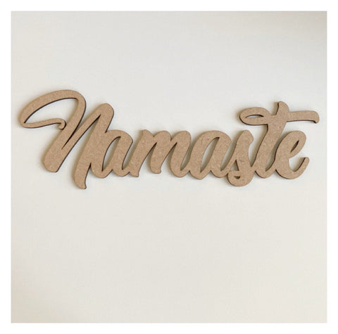 Namaste Word Wall Quote Art DIY Raw MDF Timber Wood