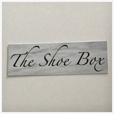 The Shoe Box Sign Wall Plaque or Hanging - The Renmy Store