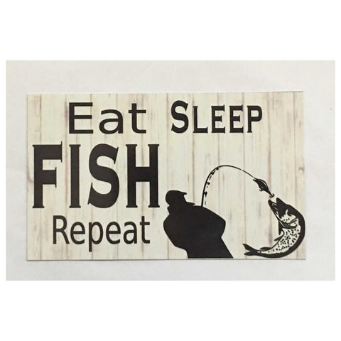 Eat Sleep Fish  Sign Plaque Or Hanging - The Renmy Store