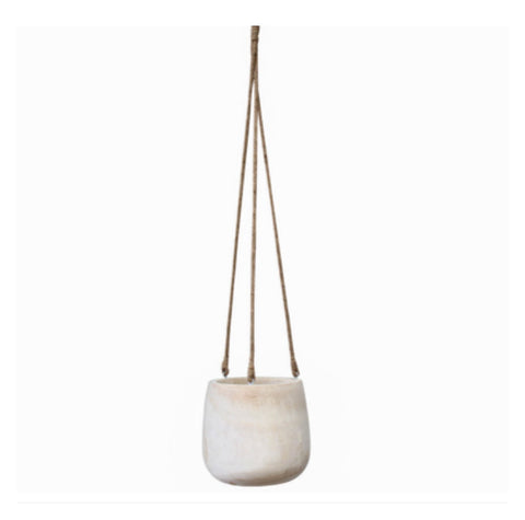 Pot Plant Hanging Wooden Small | The Renmy Store