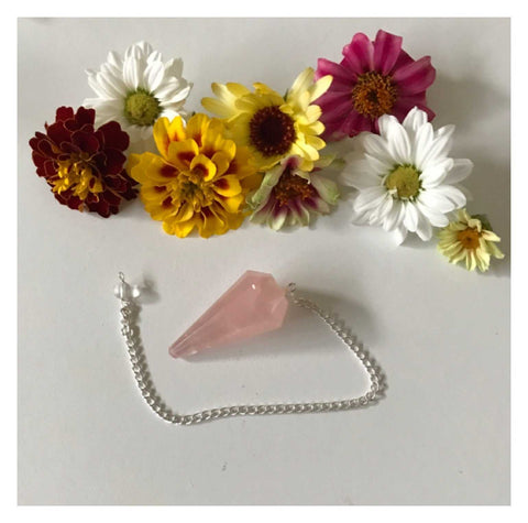 Pendulum Crystal Rose Quartz Faceted