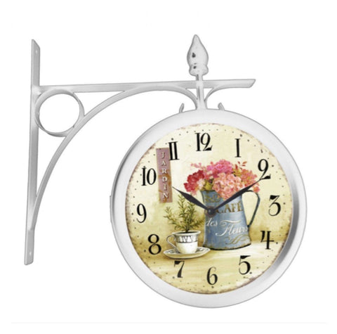 Clock Wall Antique French Jardin