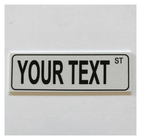 Custom Personalised Street Your Text Grey Sign