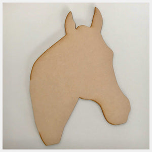Horse Head Raw Wooden MDF DIY Craft - The Renmy Store