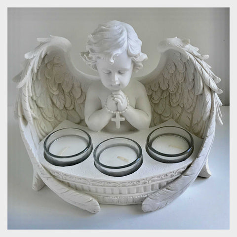 Angel Cherub Candle with Tealights