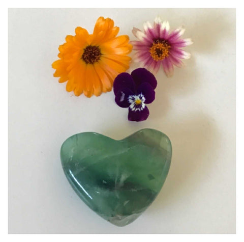 Crystal Fluorite Heart Green | The Renmy Store