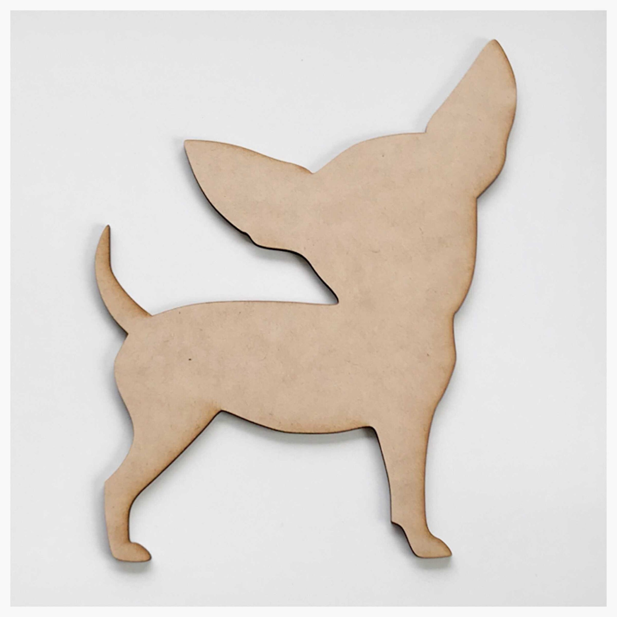 Chihuahua Dog MDF DIY Raw Cut Out Art Craft Decor - The Renmy Store