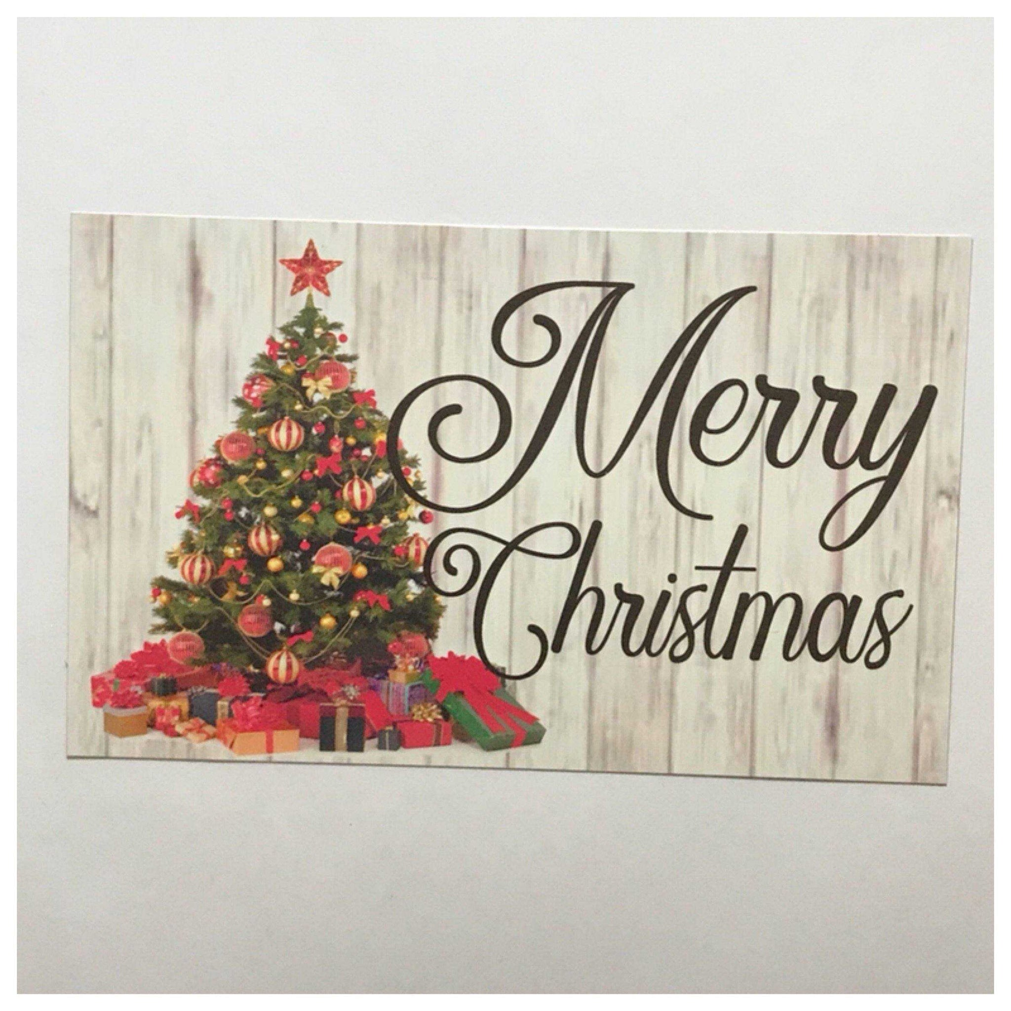 Merry Christmas Tree Sign Wall Plaque or Hanging - The Renmy Store