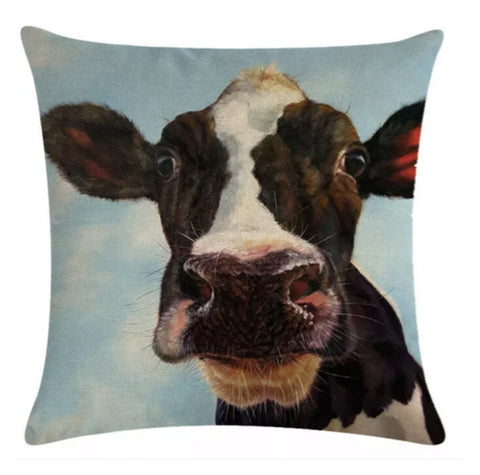 Cushion Pillow Cow Quirky Farm - The Renmy Store