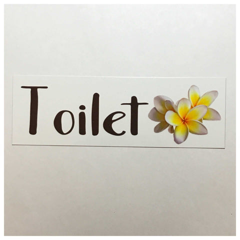 Custom Personalised Frangipani Sign
