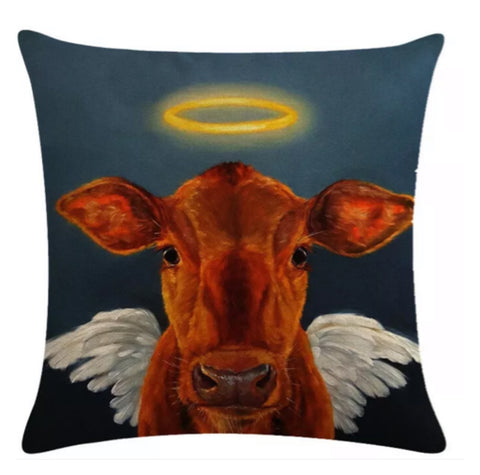 Cushion Pillow Cow Angel - The Renmy Store