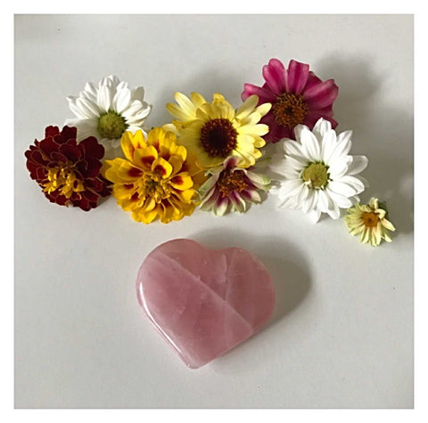 Crystal Rose Quartz Heart 3