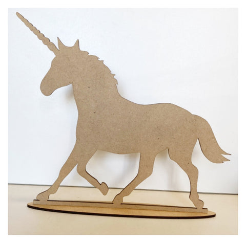 Unicorn Horse with Stand Wooden DIY Art Craft Decor