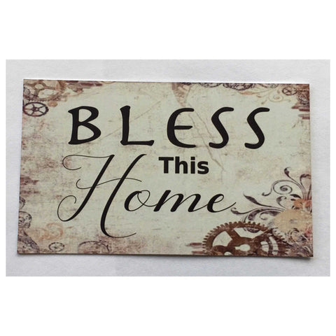 Bless This Home Sign Hanging or Plaque - The Renmy Store