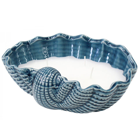 Shell Candle Clam Blue Large