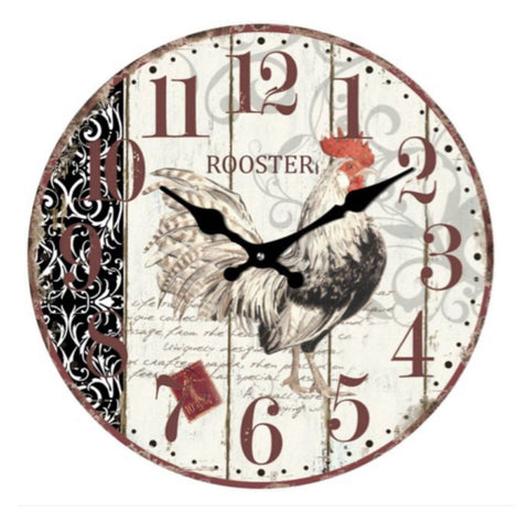 Clock Rooster Cockerel