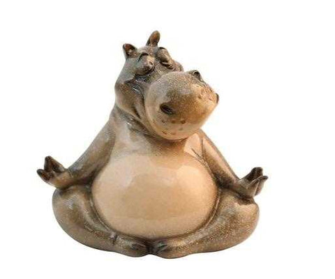 Hippo Meditating Zen Ornament